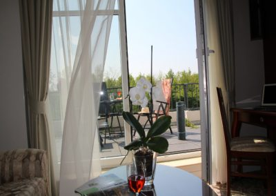 Bellevue Hotelzimmer Terrasse