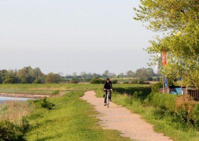 Fahrradtour auf dem Deich Fehmarn